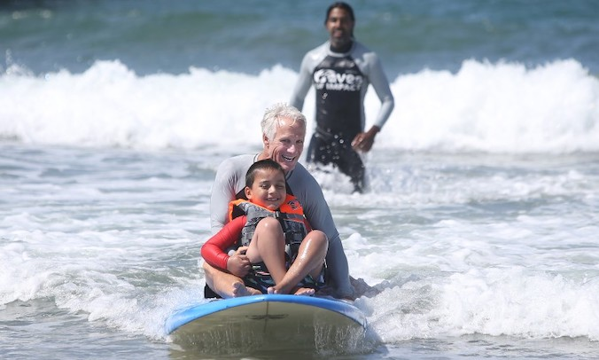 Children With Special Health Needs Have A Carefree Day In The Newport Surf